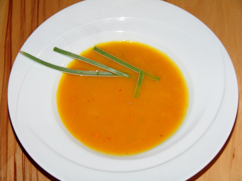 Würzige Kürbissuppe